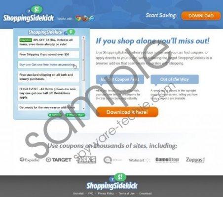 ShoppingSidekick Removal Guide