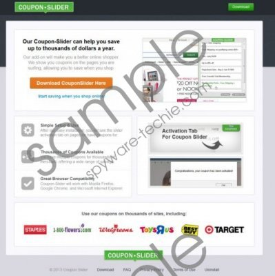 Coupon Slider Removal Guide