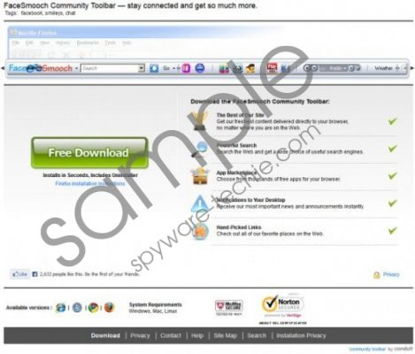 FaceSmooch Virus Removal Guide
