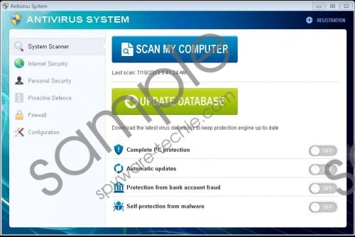 Antivirus System Removal Guide