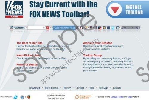 Fox News Toolbar Removal Guide