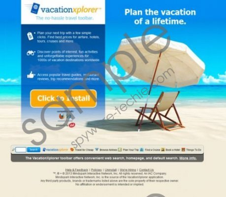 Vacation Xplorer Removal Guide