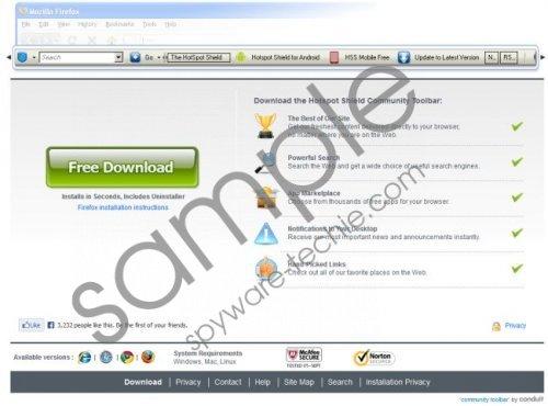 Hotspot Shield Toolbar Removal Guide