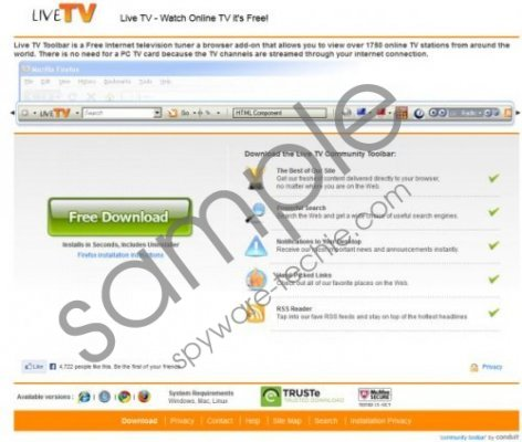 Live TV toolbar Removal Guide
