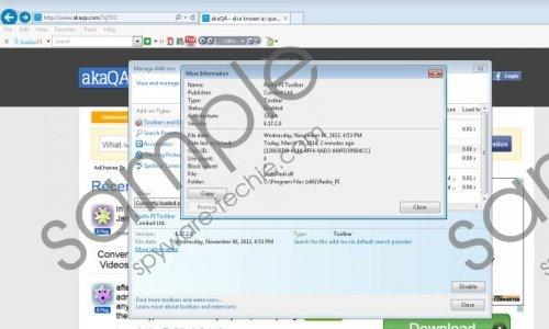 Radio PI Community Toolbar Removal Guide