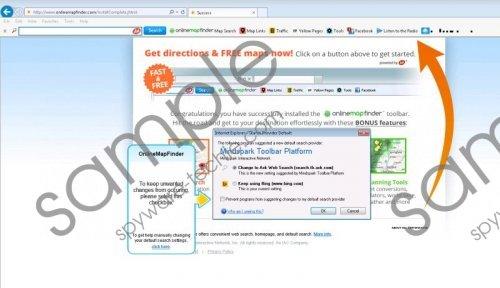 OnlineMapFinder Toolbar Removal Guide