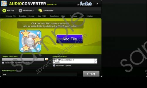 FoxTab Audio Converter Removal Guide