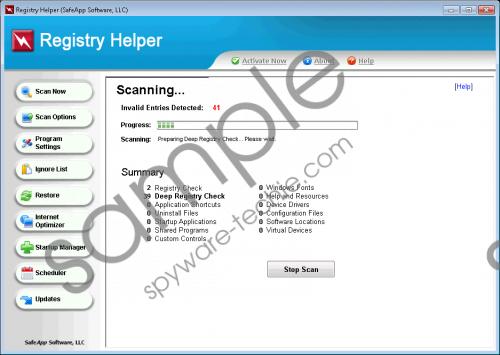 Registry Helper Removal Guide