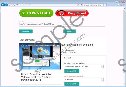 Free Youtube Downloader Removal Guide
