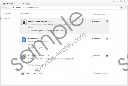 Chrome Settings Button Removal Guide