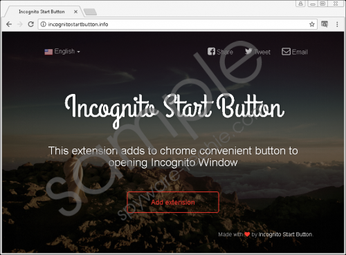Incognito Start Button Removal Guide