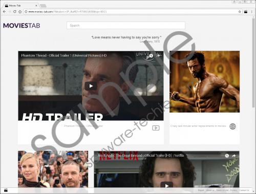 Movies Tab Plus Removal Guide