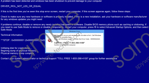 1-855-266-4100 Driver_irol_not_les_or_equal Removal Guide