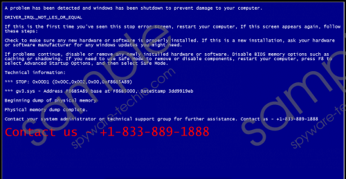 +1-833-889-1888 BSOD Fake Message Removal Guide