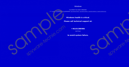 Windows Health Is Critical FAKE Tech Support popup Removal Guide