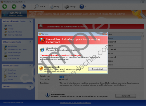 Windows Antivirus Release Removal Guide