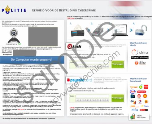 Eenheid Voor de Bestrijding Cybercrime Virus Removal Guide