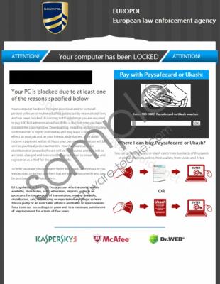 Europol Ransomware Virus Removal Guide