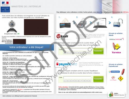 Ministere de L'interieur Virus Removal Guide