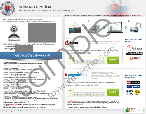 Slovenská Polícia Virus Removal Guide