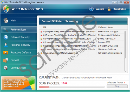 Win 7 Defender 2013 Removal Guide