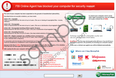 FBI Online Agent has Blocked your computer for security reason virus Removal Guide