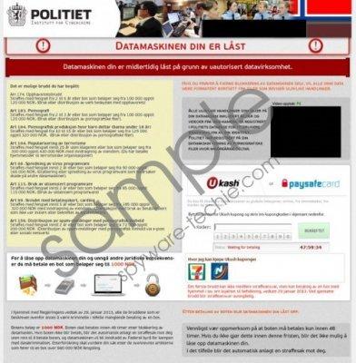Datamaskinen Din Er Låst Virus Removal Guide
