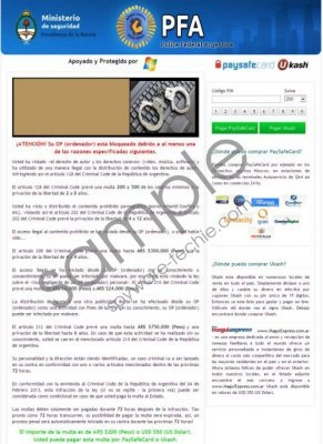 Ministerio de seguridad virus Removal Guide