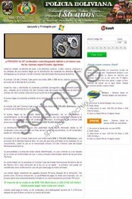 Policia Boliviana Virus Removal Guide