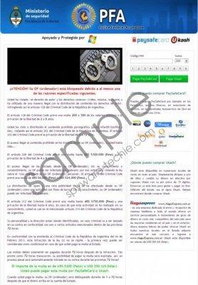 Policía Federal Argentina Virus Removal Guide