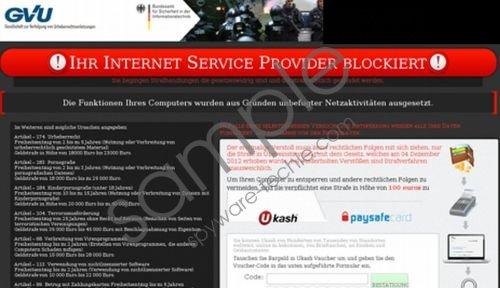 Ihr Internet Service Provider blockiert Virus Removal Guide