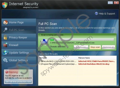 Internet Security 2013 Removal Guide