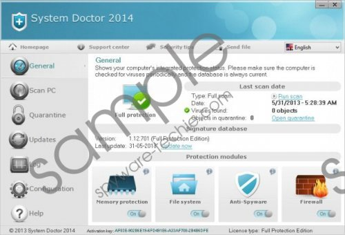 System Doctor 2014 Removal Guide