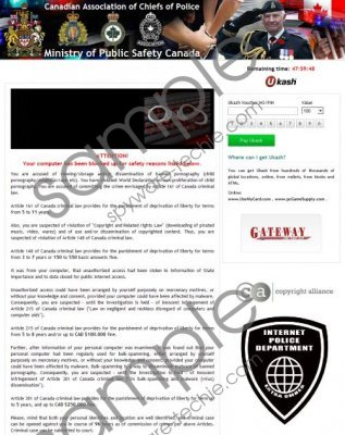 Ministry of Public Safety Canada Virus Removal Guide