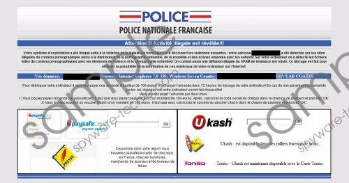 Police Nationale Francaise Virus Removal Guide