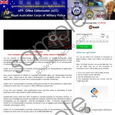 Royal Australian Corps of Military Police Virus Removal Guide
