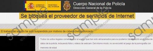 Se bloquea el proveedor de servicios de internet virus Removal Guide