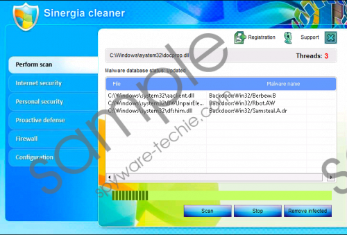 Sinergia Cleaner Removal Guide