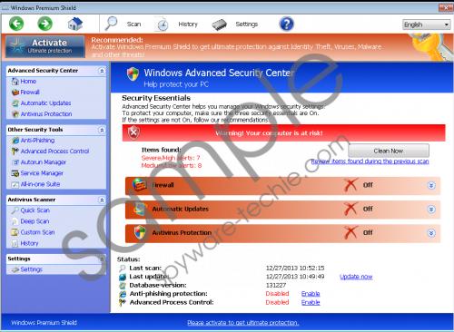 Windows Premium Shield Removal Guide