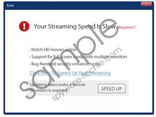 Your Streaming Speed Is Slow popup Removal Guide