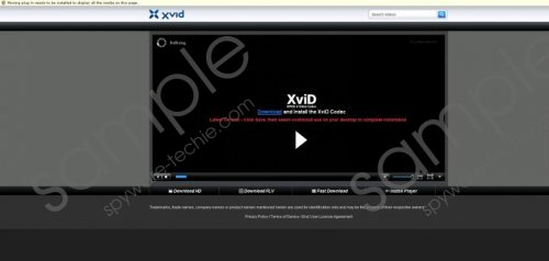Your system doesn't support this video file pop-up Removal Guide