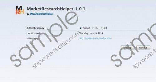 MarketResearchHelper Removal Guide