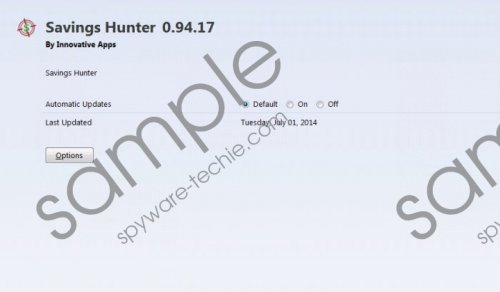 Savings Hunter Removal Guide