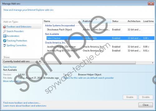 SalesChecker Removal Guide
