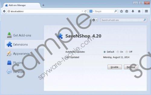 SaveNShop Removal Guide