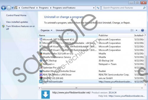 YourFile Downloader Removal Guide