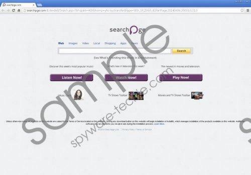 Searchpge.com Removal Guide