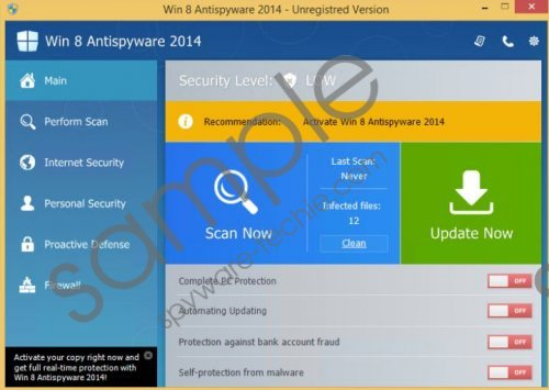 Win 8 Antivirus 2014 Removal Guide