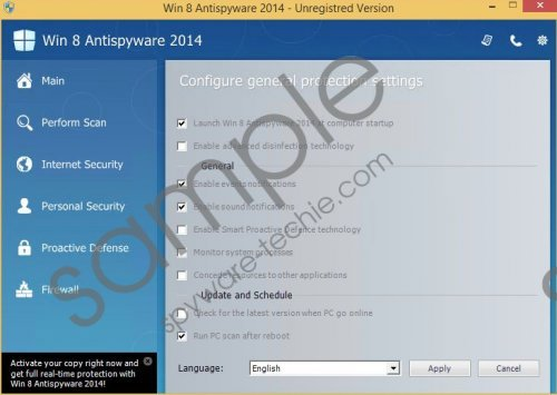 Win 8 Protection 2014 Removal Guide