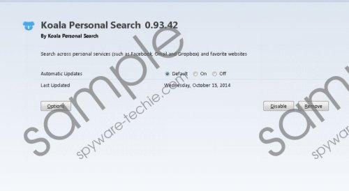 Koala Personal Search Removal Guide